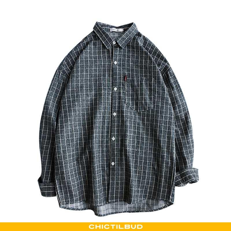 Skjorter Herre Bluser Skjorter Casual Mørkeblå