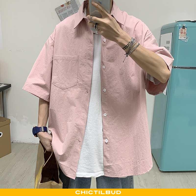 Skjorter Herre Bluser Skjorter Kortærmet Mænd