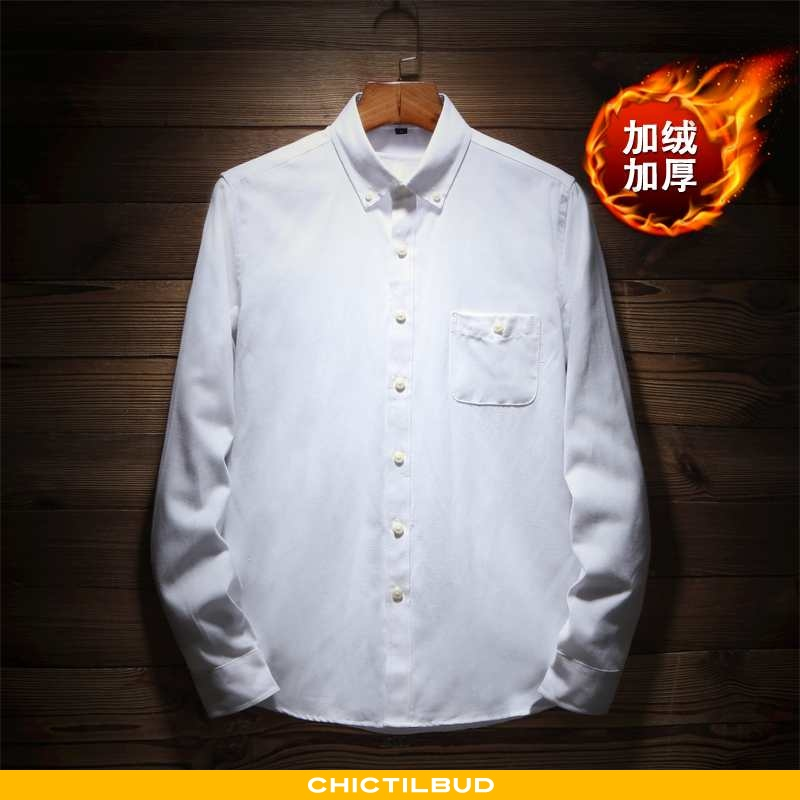 Skjorter Herre Bluser Skjorter Løse Hvid