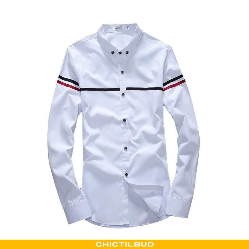 Skjorter Herre Bluser Skjorter Løse Mænd