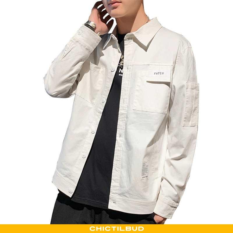 Skjorter Herre Frakke Langærmet Ren Hvid