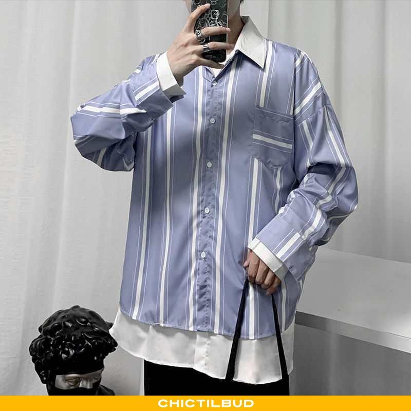 Skjorter Herre Frakke Trend Mørkeblå