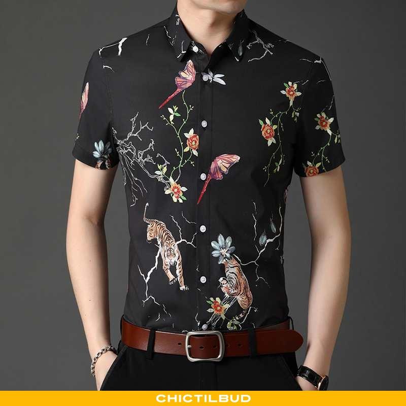 Skjorter Herre Kortærmet Skjorte Business Ny