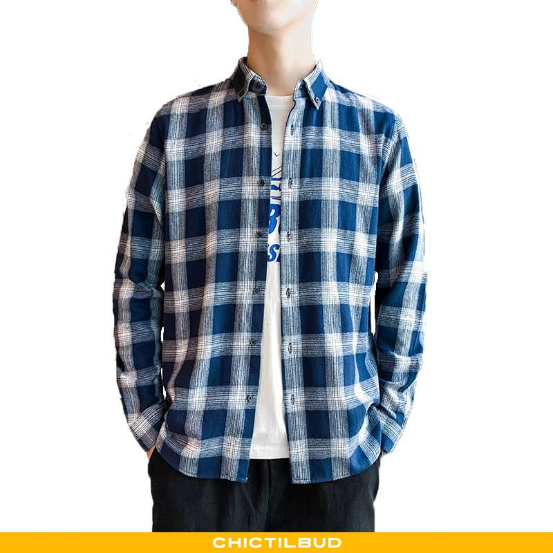 Skjorter Herre Skjorte Bomuld Forårs Studerende