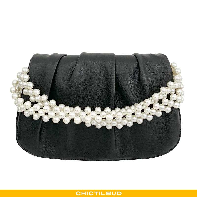 Skuldertaske Dame Messenger Taske Vintage Perle
