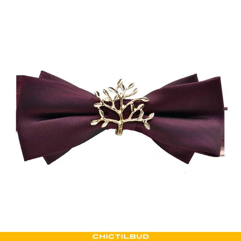 Sløjfe Herre Bryllup Ren Bordeaux