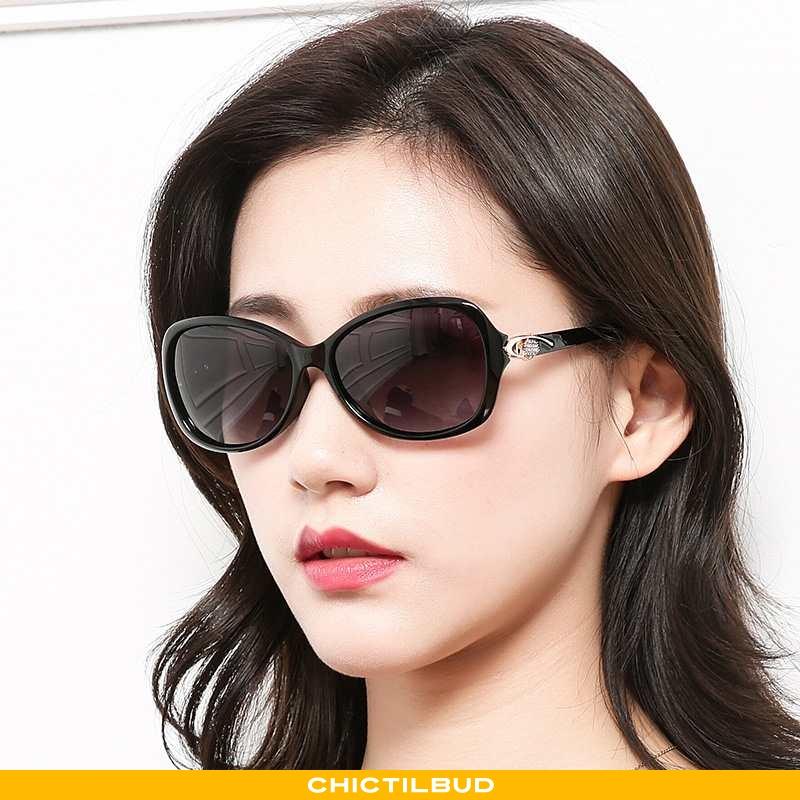 Solbriller Dame Elegante Lille Sektion Sort