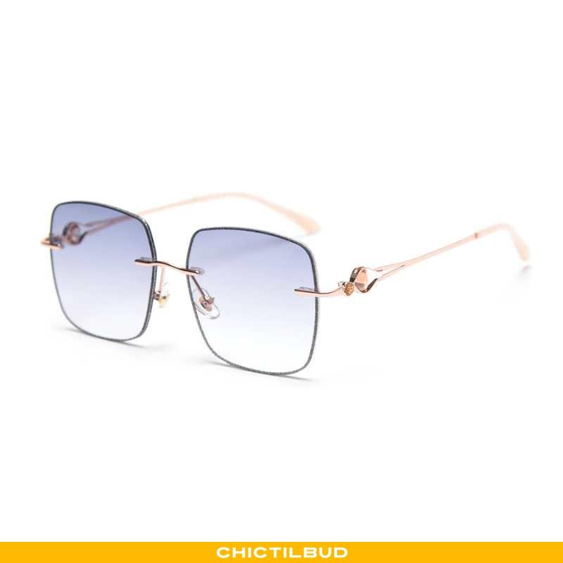 Solbriller Dame Mode Mesh Blå