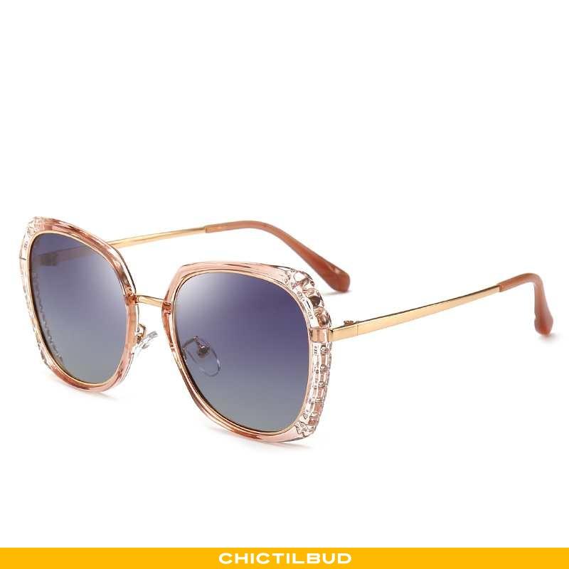 Solbriller Dame Skinny Guld