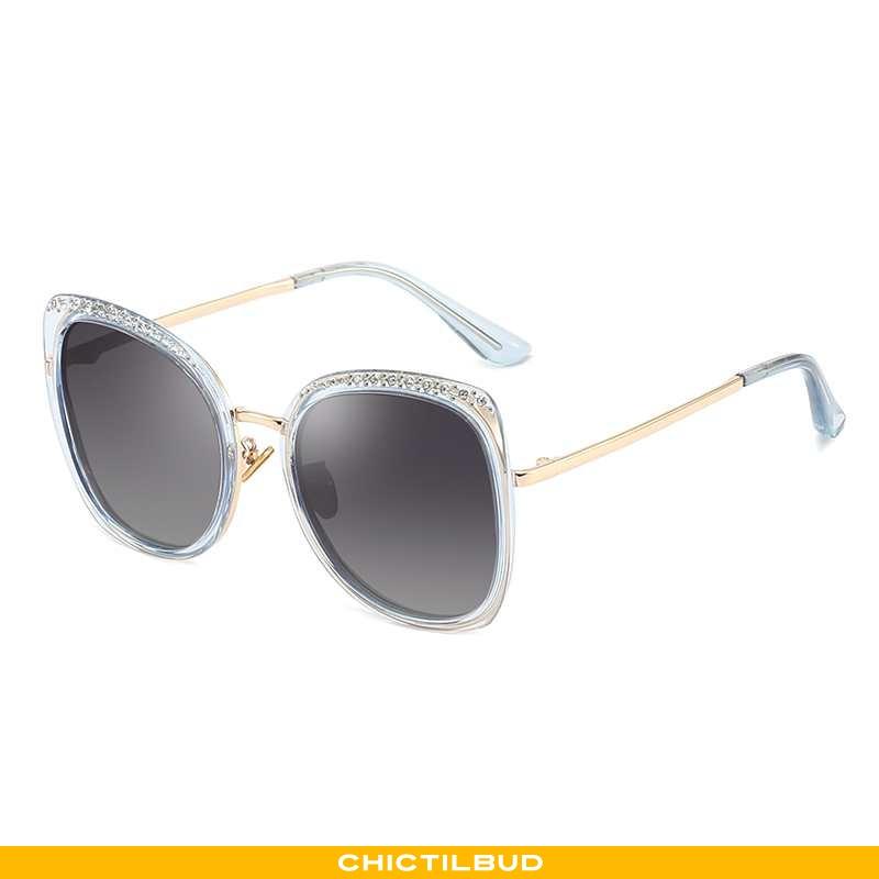 Solbriller Dame Skinny Polarisator Blå