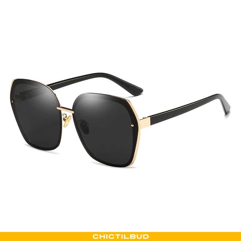 Solbriller Dame Skinny Polarisator Sort
