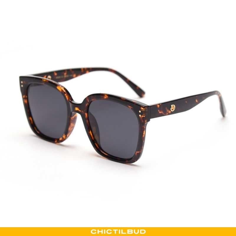 Solbriller Dame Skinny Stor Sort