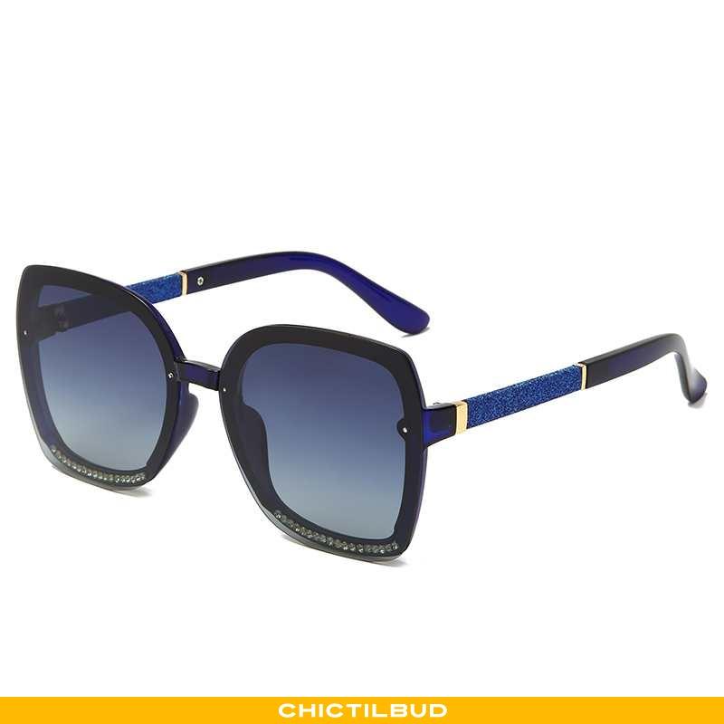 Solbriller Dame Trend Anti-uv Mørkeblå