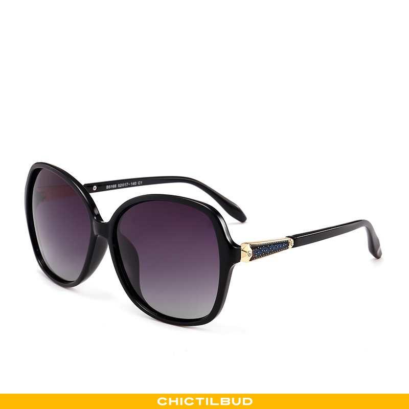 Solbriller Dame Trend Anti-uv Sort