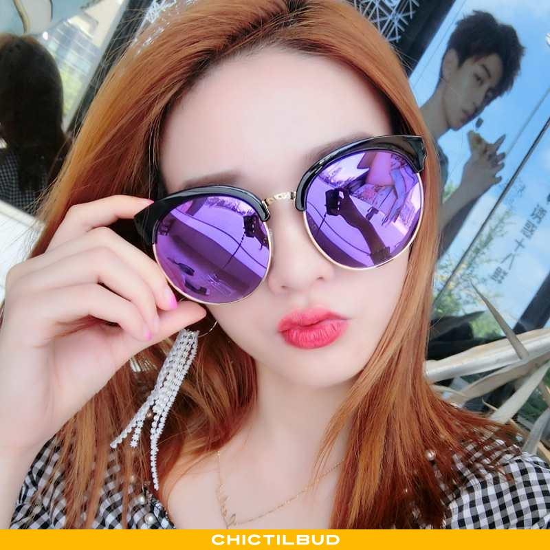 Solbriller Dame Trend Mesh Lilla