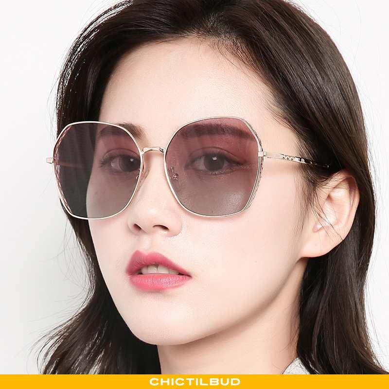 Solbriller Dame Trend Metal Brune