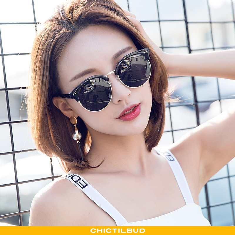Solbriller Dame Trend Polarisator Sort