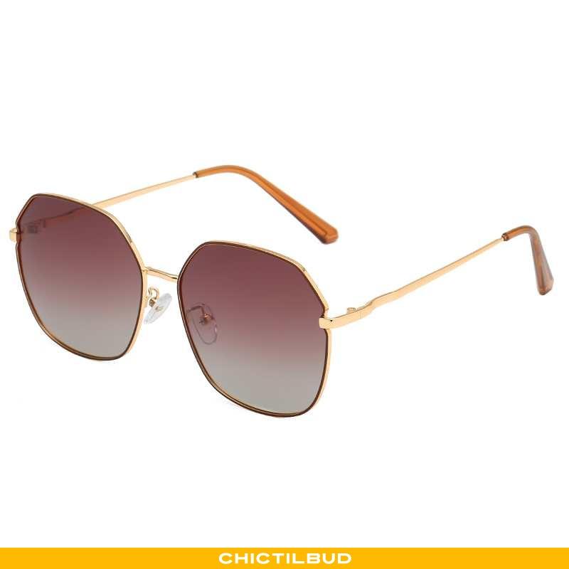 Solbriller Dame Trend Rød Khaki