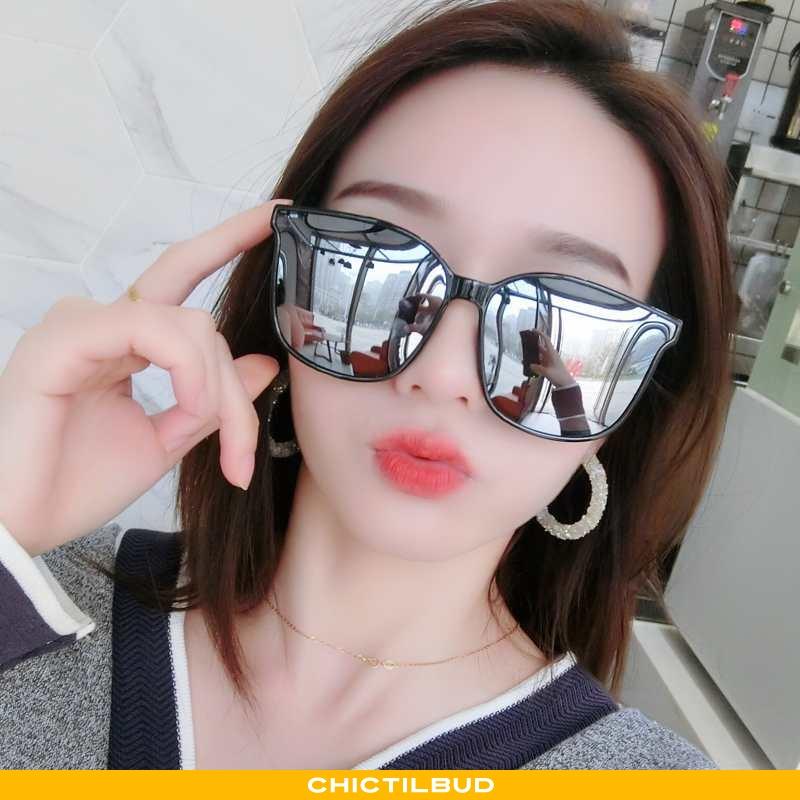 Solbriller Dame Trend Stjerne Sort