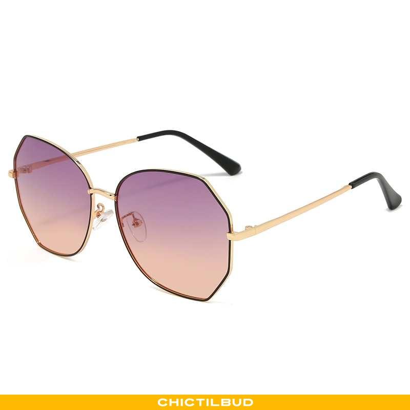 Solbriller Dame Trend Stor Lyserød