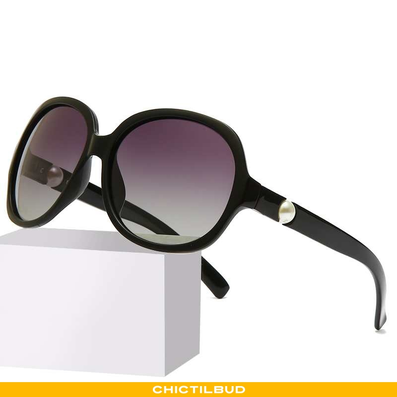 Solbriller Dame Vintage Rød Sort