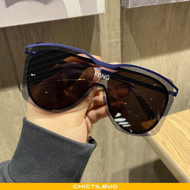 Solbriller Herre Skinny Mesh Blå