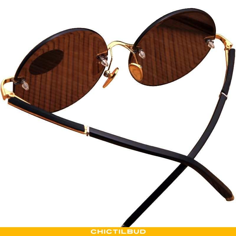 Solbriller Herre Vintage Brun Brune