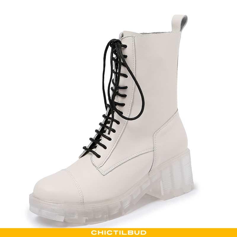 Støvler Dame Korte Støvler Læder Tynd 2020