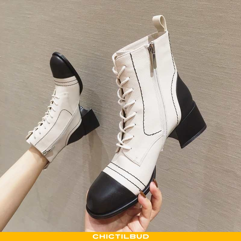 Støvler Dame Korte Støvler Læder Vinter 2020