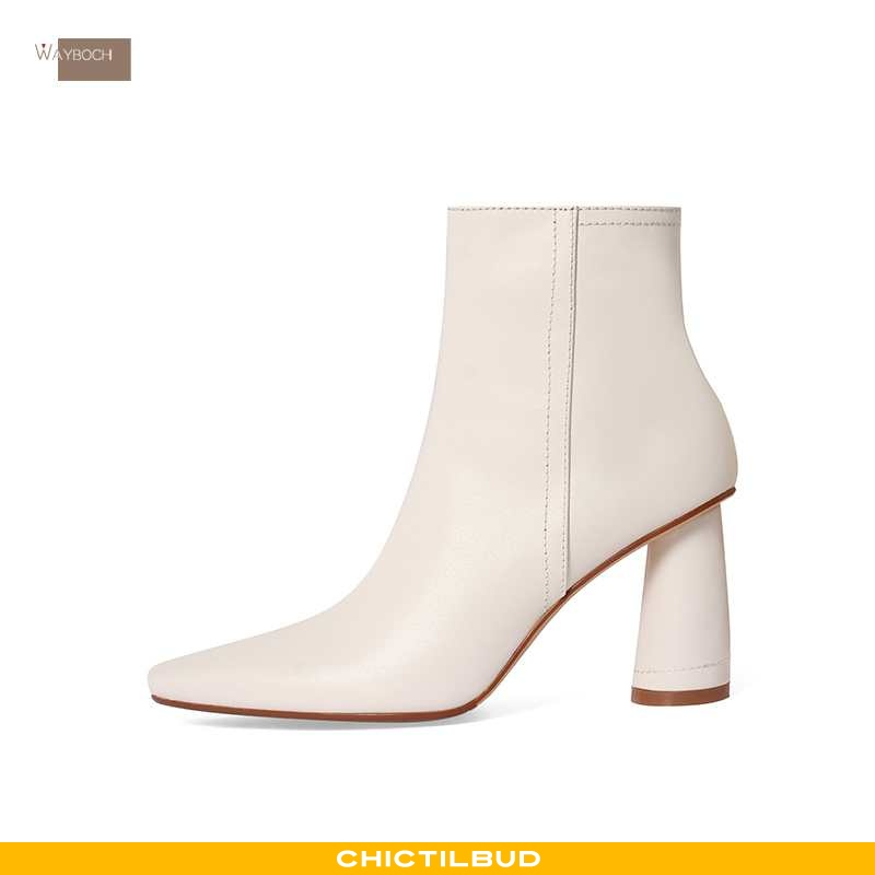 Støvler Dame Korte Støvler Læder Vinter Spidst
