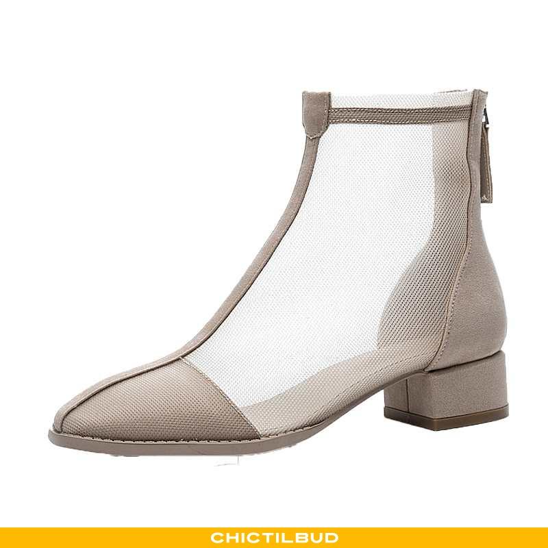 Støvler Dame Martin Støvler Tyl Blonder Kvinder