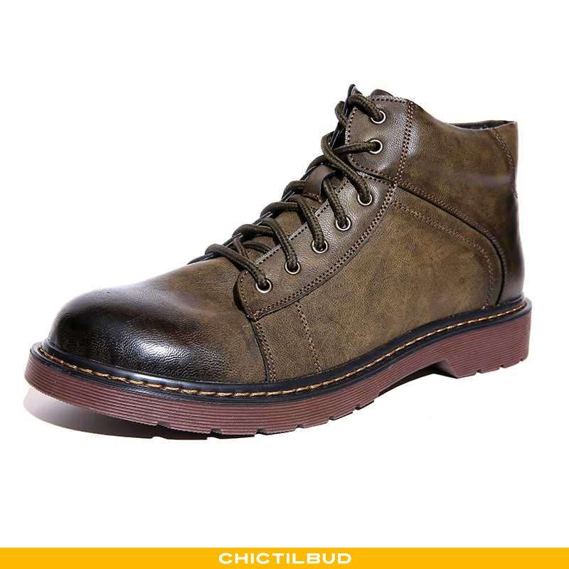 Støvler Herre Korte Støvler Læder Trend Mænd