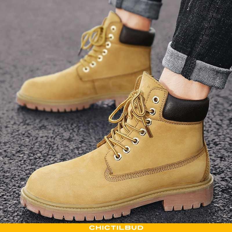 Støvler Herre Korte Støvler Trend Gul