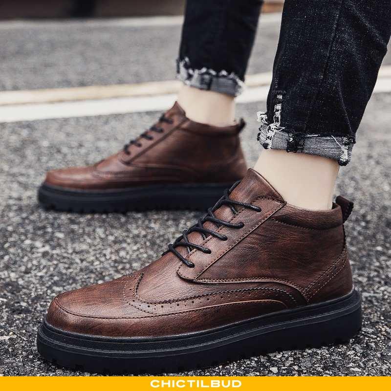 Støvler Herre Martin Støvler Læder Trend Mænd