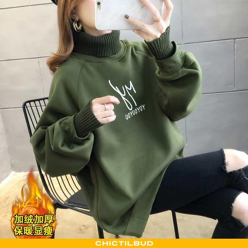 Sweatere Dame Behagelige Alt Matcher Militærgrøn