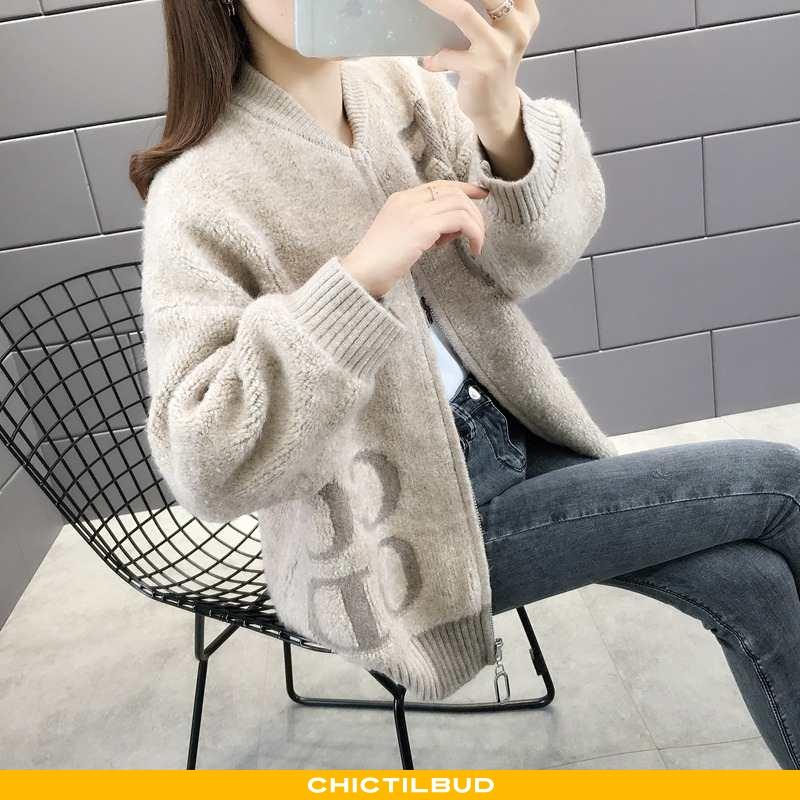 Sweatere Dame Cardigan Strikket Mode Smuk