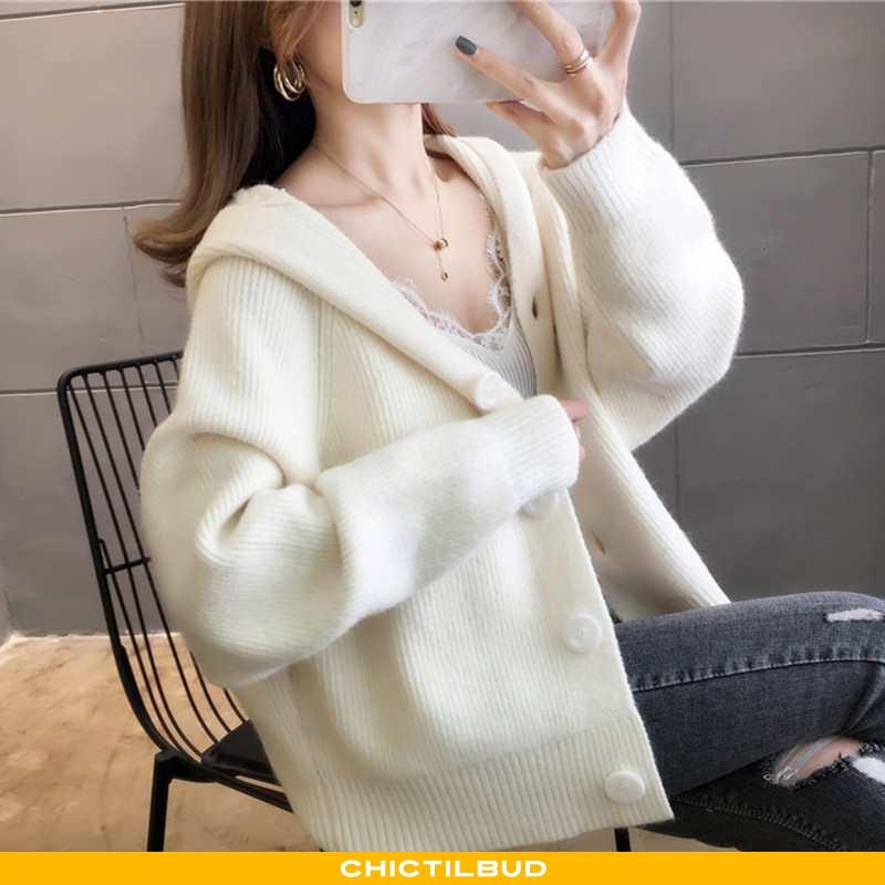 Sweatere Dame Cardigan Strikket Trend Personlighed