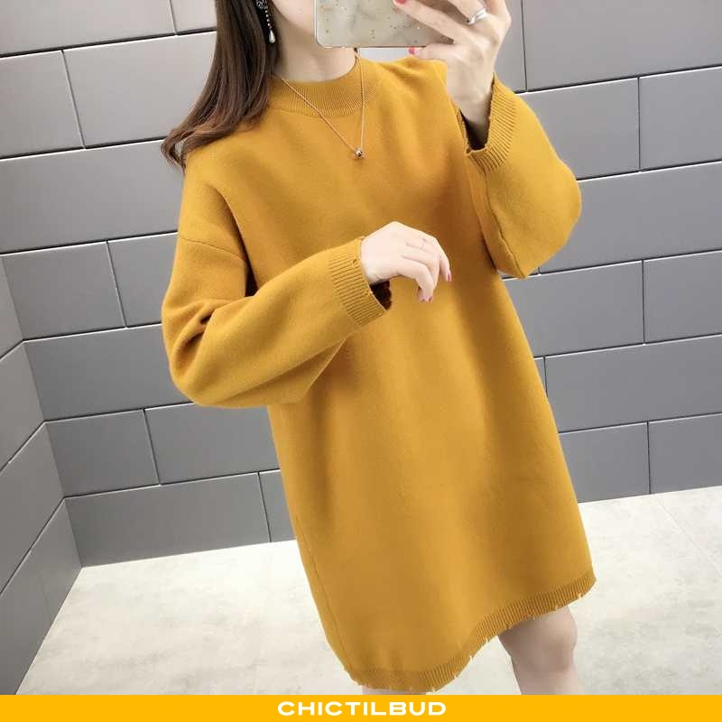 Sweatere Dame Casual Damer Gul