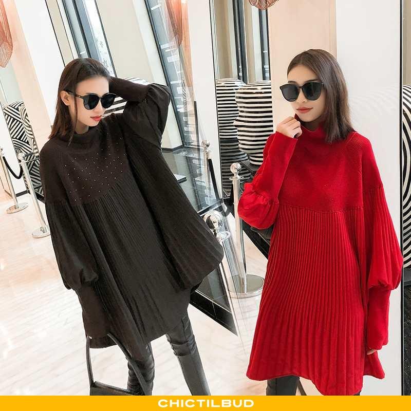 Sweatere Dame Kjole Lang Elegante