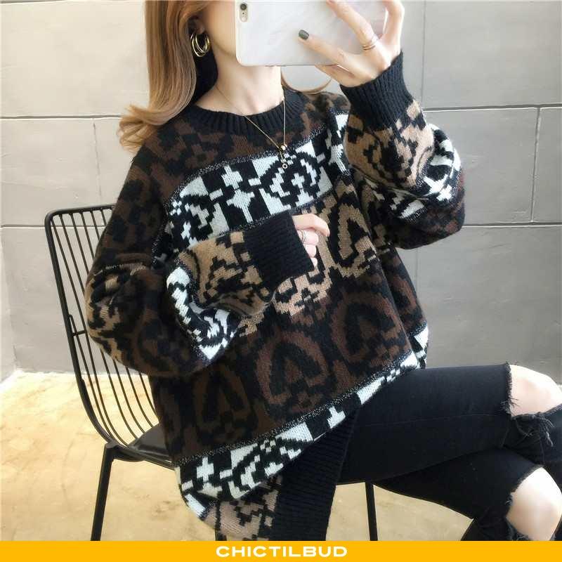 Sweatere Dame Skinny Brun Brune