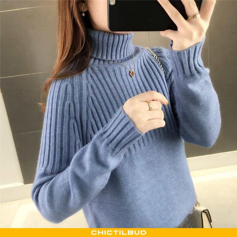 Sweatere Dame Striktrøjer Løse Mørkeblå