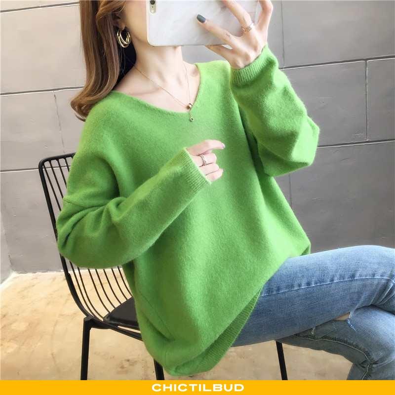Sweatere Dame Striktrøjer Løse Ren