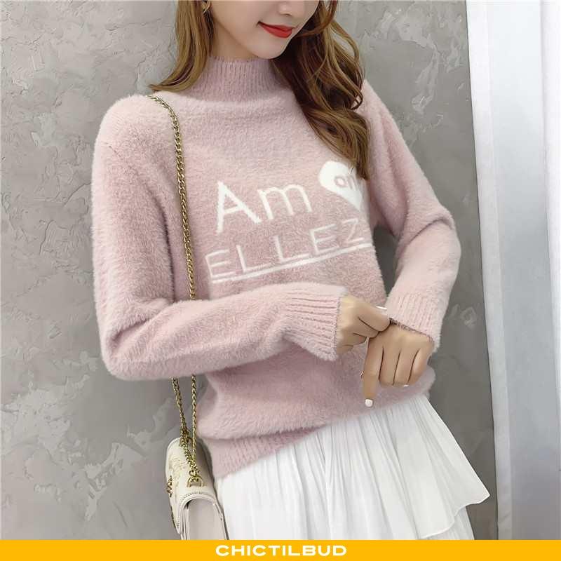 Sweatere Dame Striktrøjer Mode 2021