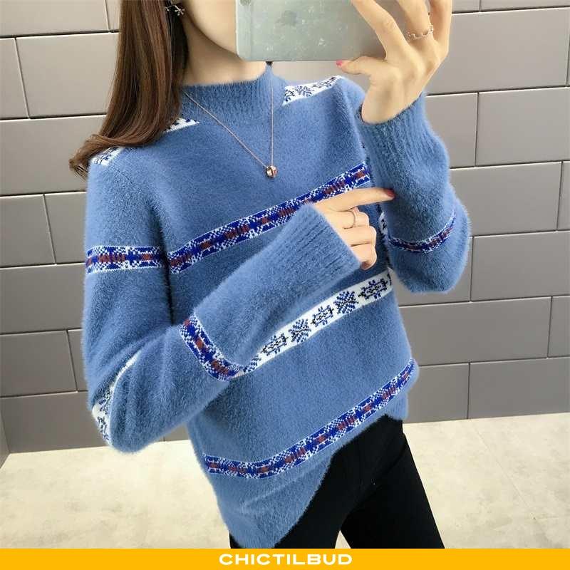 Sweatere Dame Striktrøjer Skinny Blandede Farver