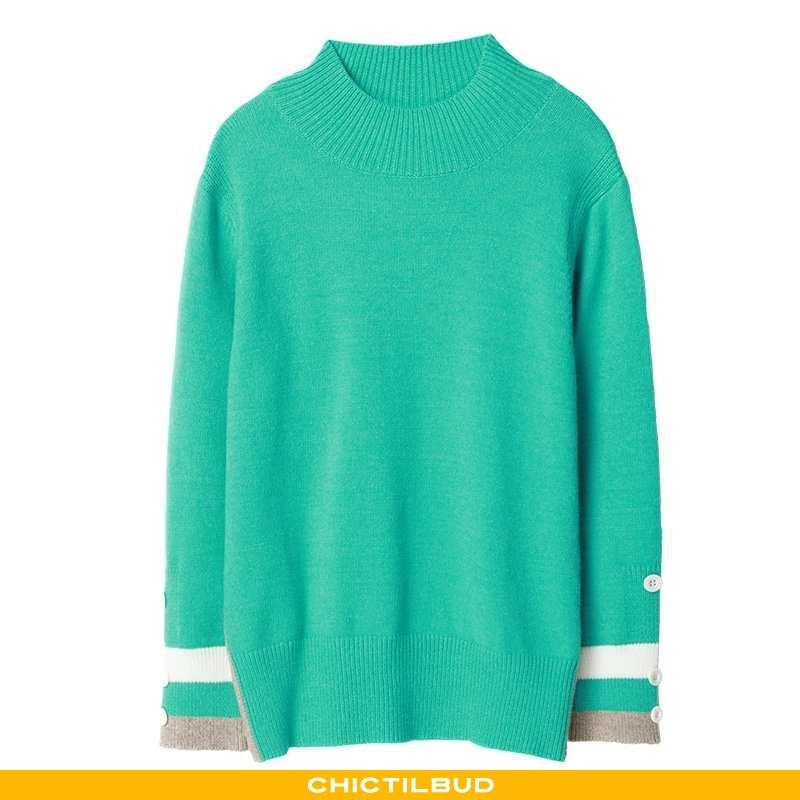 Sweatere Dame Striktrøjer Trend Grøn