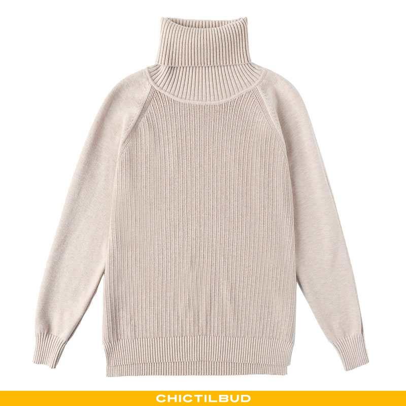 Sweatere Dame Striktrøjer Trend Høj Krave