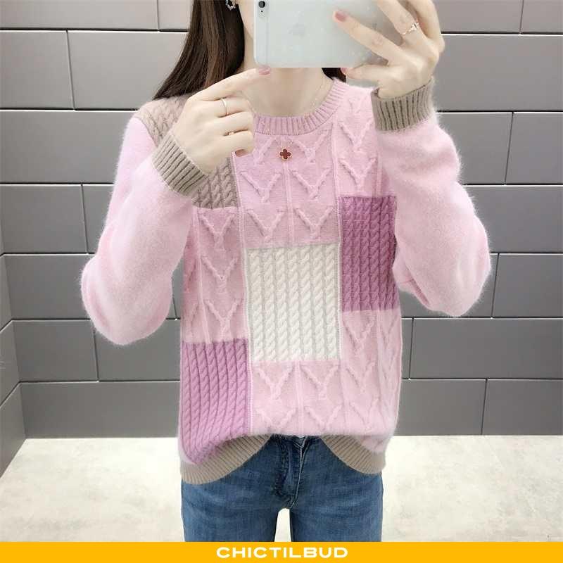 Sweatere Dame Sweater Behagelige Rund Hals