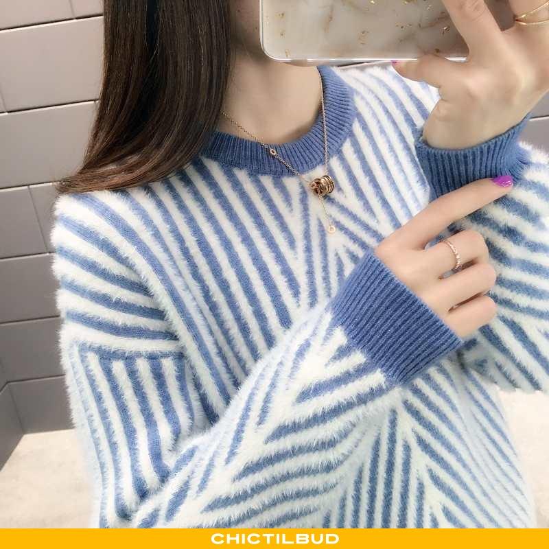 Sweatere Dame Sweater Casual Sød