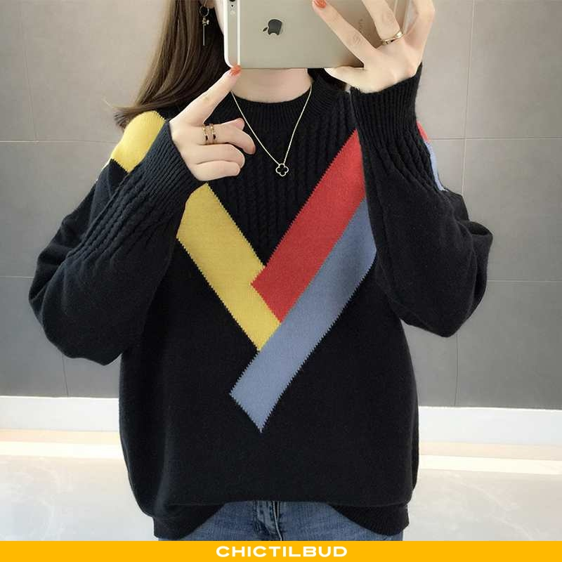 Sweatere Dame Sweater Løse Ny