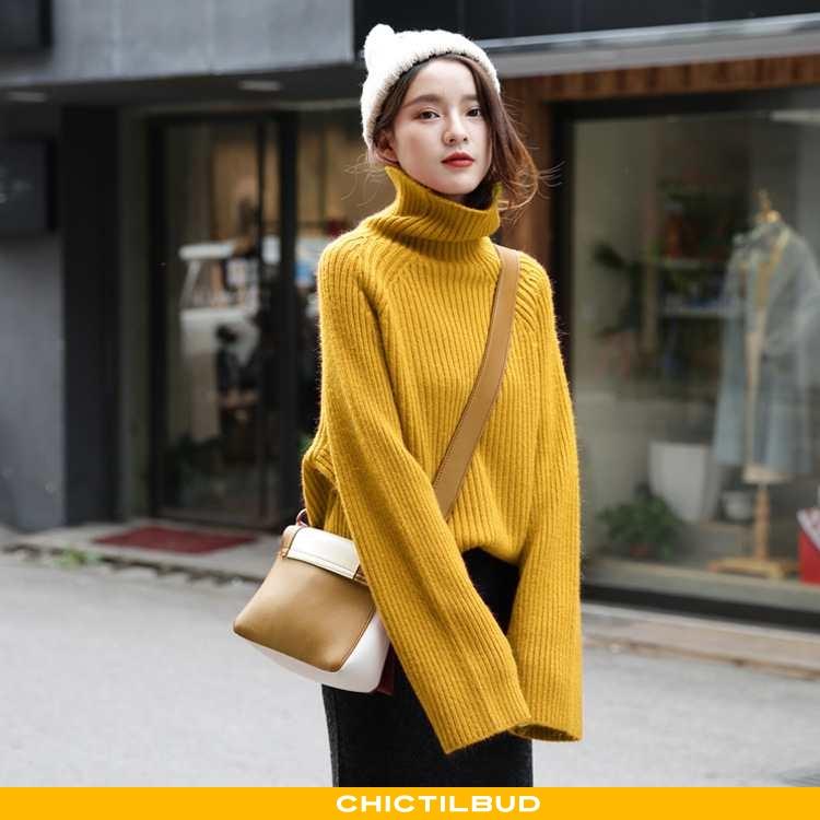 Sweatere Dame Sweater Løse Ren